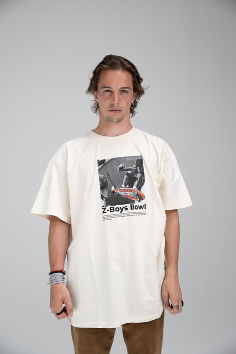 """Z-Boys Bowl"" T-Shirt Ecru"