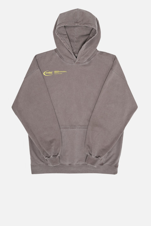 "Gray brown ""Basic Logo"" Hoodie"