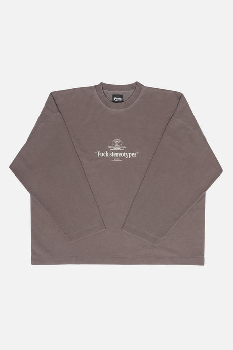 Festival Sweatshirt Gray Brown