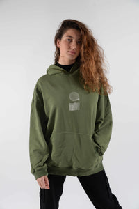 Stained Hoodie Burnt Olive - Scuffers