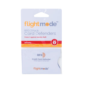Flightmode RFID Card Sleeve 3 Pack - These RFID Card Defenders conform to international standards and block unwanted scanning of your cards. Made from water and tear resistant material.
