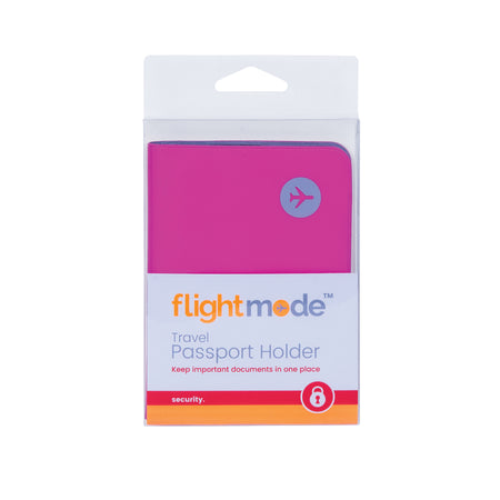 Flightmode PVC Passport Holder - Made from PVC material these Passport Holders both protect your passport and keep it out of sight. Available in black, blue and pink.