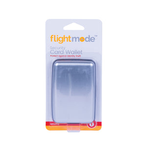 Flightmode Security Card Wallet - Designed for carrying your credit card and cash, it's the perfect security device for travellers. It has 6 expandable pockets, and ABS plastic interior, PVC dividers and a strong and durable aluminium outer shell. Available in black and silver.