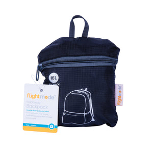 Flightmode 16L Foldaway Backpack/Daypack - Made from durable 420D polyester fabric, the Foldaway Backpack has a front pocket for easy access and folds into it's own pocket for easy storage. Measures: 31 x 41 x 12cm
