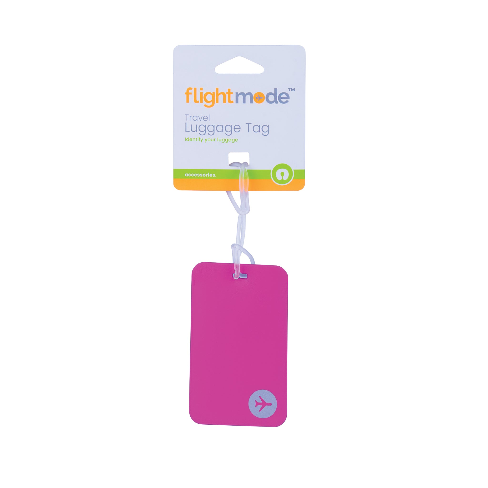 Flightmode PVC Luggage Tags - PVC Luggage Tages in Assorted Colours - Size:11.5*7cm Material:PVC - 3 Colours Assorted - Black, Blue, Pink