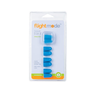 Flightmode Ear Plugs - These brightly coloured Ear Plugs will help to block ambient noise to make your travelling experience more comfortable. They come with four pairs per pack and a handy travel storage case to keep your Ear Plugs clean and hygienic. Available in blue, pink and orange.