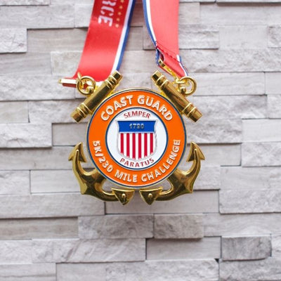 PRE ORDER: Military Series Coast Guard 5K/230M Virtual Race [Starts shipping 1/29/21]
