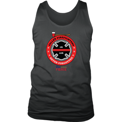 Fallen Firefighter Unisex Tank Dark Grey
