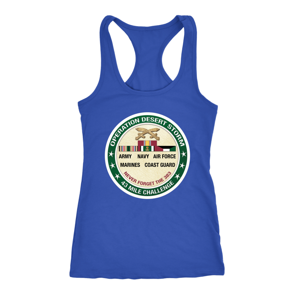 Operation Desert Storm Women's Racerback Tank Royal Color