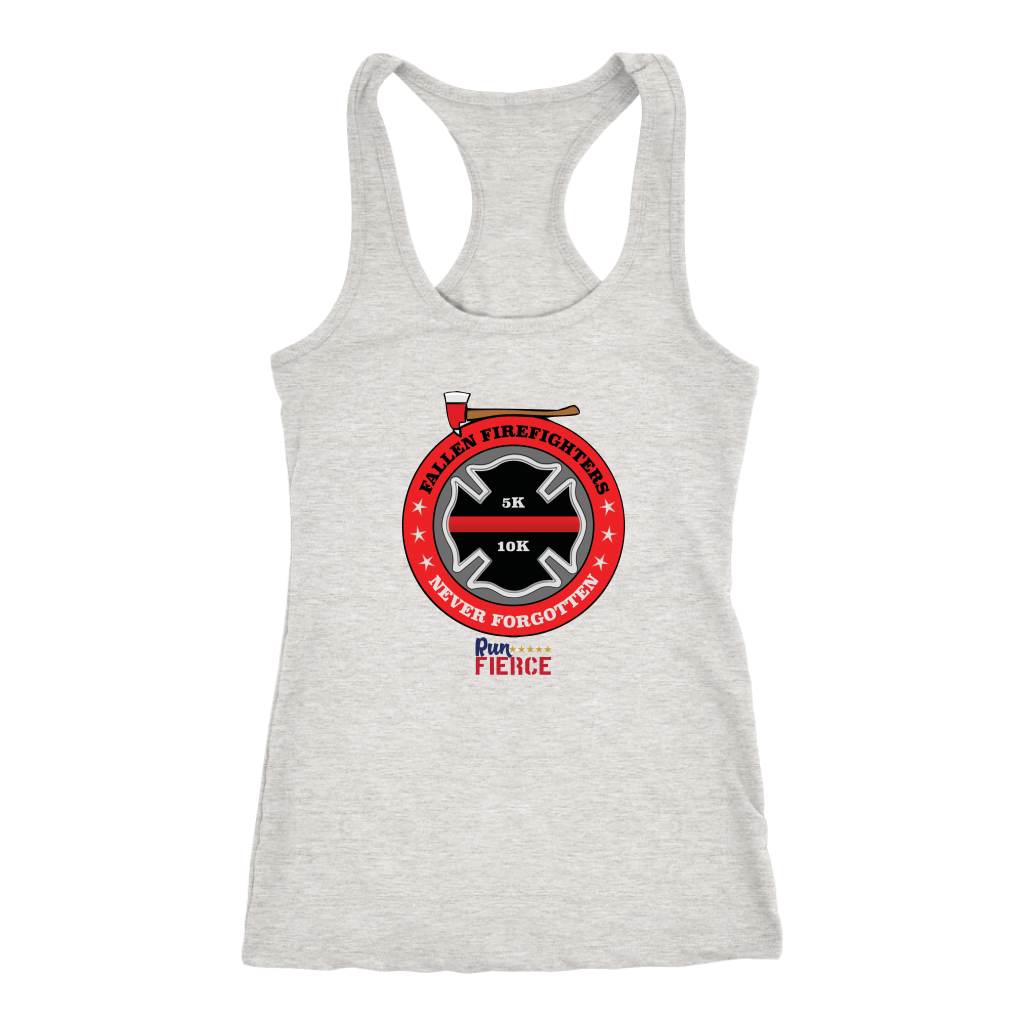 Fallen Firefighter Racerback Women Shirt Gray