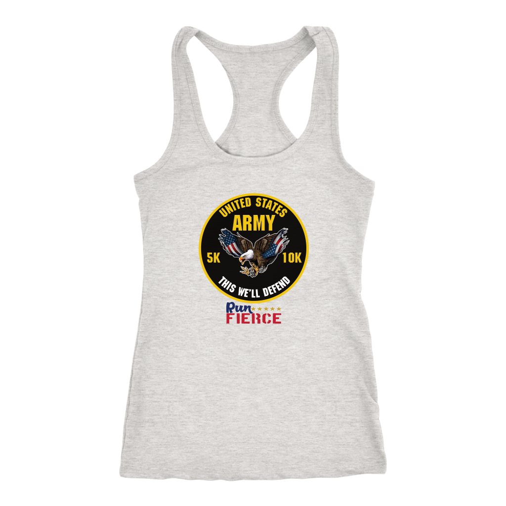 Army 5K/10K Virtual Race Womens Racerback Tank