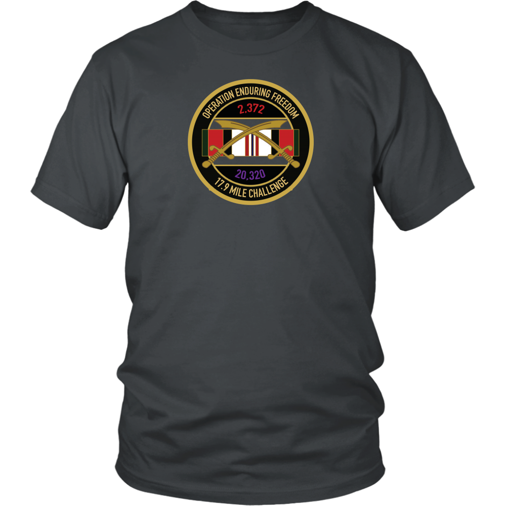 Afghanistan War/Operation Enduring Freedom 17.9 Mile Challenge Unisex T-Shirt