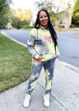 Load image into Gallery viewer, Neon Tie-Dye Sweatsuit Set