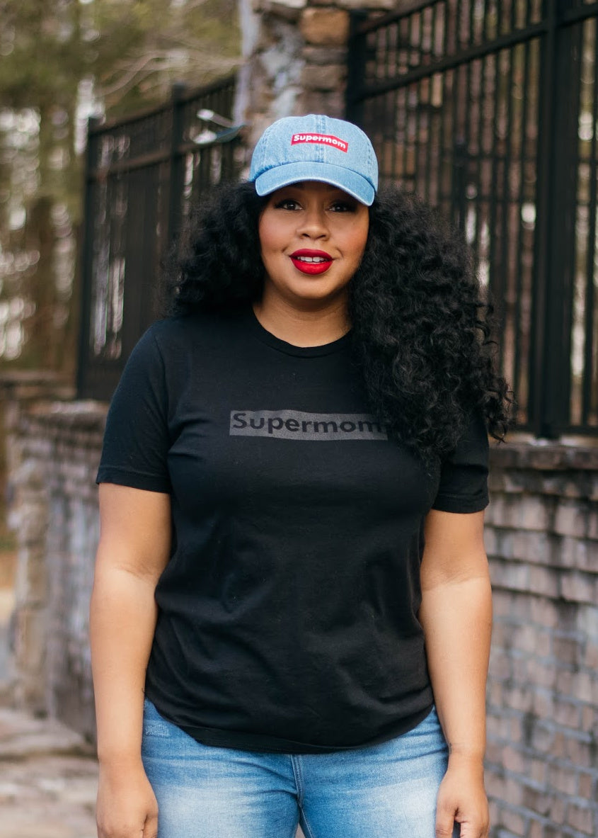 Supermom Black on Black Tee