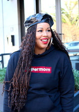 Load image into Gallery viewer, Black Bling Supermom Hoodie