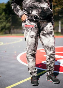 Black Tie-Dye Sweatsuit Set