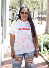 Load image into Gallery viewer, Neon Supermom Splatter Tee