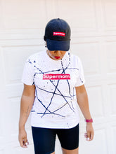 Load image into Gallery viewer, Supermom Splatter White - Black Tee