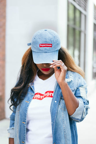 Denim Supermom Cap