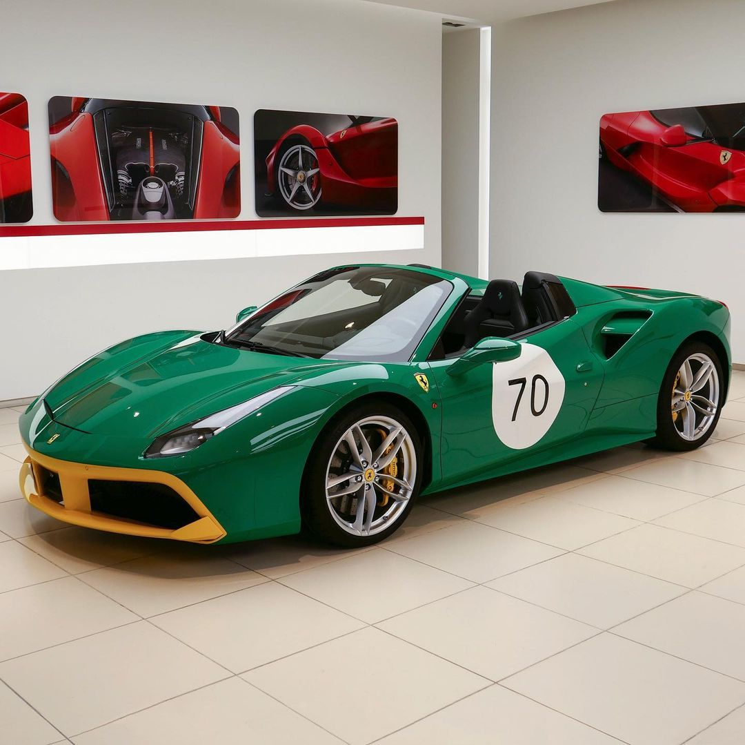 BP Green Ferrari 488 Spider