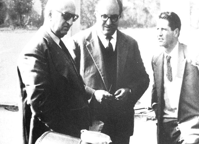 Enzo Ferrari, Carlo Chiti and Giotto Bizzarrini