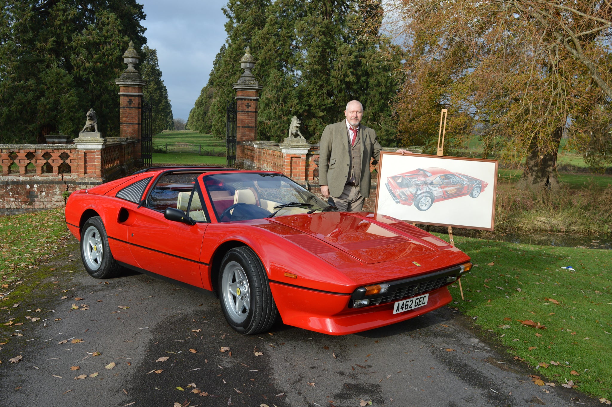 Ferrari 308 GTS and John Lawson (1)
