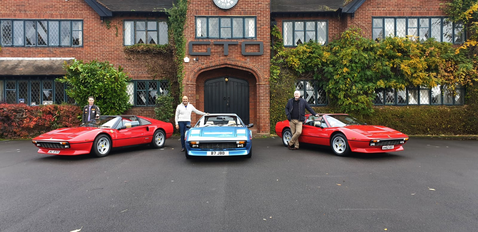 Ferrari 308 meeting at GTO Engineering