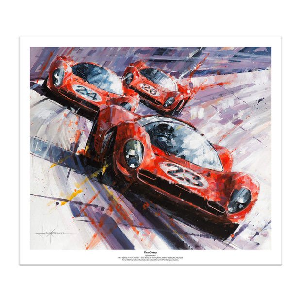 1967 24 Hours of Daytona - Art Print