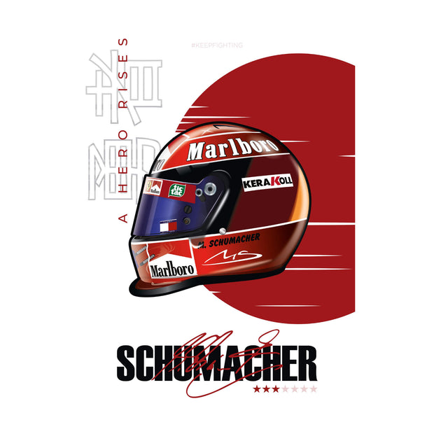 Schumacher Helmet 2000 Japanese GP - Art Print