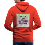 Peace Love Happiness Forever - Men's Premium Hoodie - red