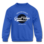 Good Vibes Giver - Kids' Crewneck Sweatshirt - royal blue