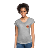 Love Life Flowers - Women's Tri-Blend V-Neck T-Shirt - heather gray