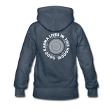 Good Karma - Women's Premium Hoodie - heather denim