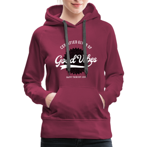 Good Vibes Giver - Women's Premium Hoodie - burgundy