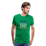 Repeat Good Vibes - Men's Premium T-Shirt - kelly green