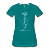 Good Karma Lives - Women's Premium T-Shirt - teal