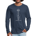 Good Karma Lives - Men's Premium Long Sleeve T-Shirt - navy