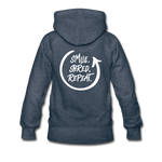 Smile. Shred. Repeat - Women's Premium Hoodie - heather denim