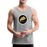Breathe and Live Good Karma - Men's Premium Tank - heather gray