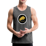 Breathe and Live Good Karma - Men's Premium Tank - charcoal gray