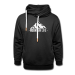 Mountain Life - Shawl Collar Hoodie - black