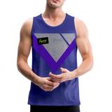 Happy Script - Men's Premium Tank - royal blue