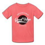 Good Vibes Giver - Youth Tagless T-Shirt - coral