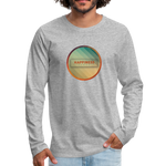 Happiness Lives - Men's Premium Long Sleeve T-Shirt - heather gray