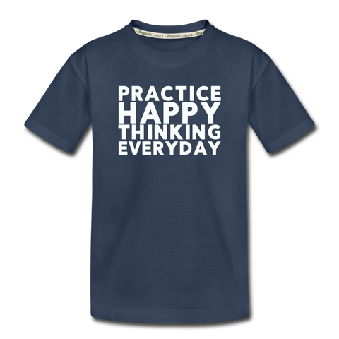 Happy Thinking - Kid's Premium Organic T-Shirt - navy