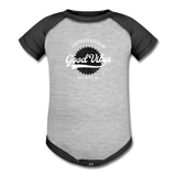 Good Vibes Giver - Baseball Baby Bodysuit - heather gray/charcoal