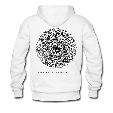Breathe - Men's Premium Hoodie - white