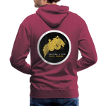 Breathe and Live Good Karma - Men's Premium Hoodie - burgundy