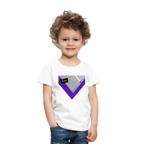 Happy Script - Toddler Premium T-Shirt - white
