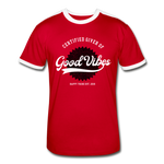 Good Vibes Giver - Men's Retro T-Shirt - red/white